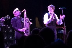 Psychedelic Furs saxophonist Mars Williams and singer Richard Butler at Mr. Smalls.
