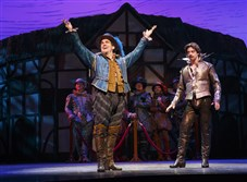 """Something Rotten!"" stars Brian d'Arcy James, center, and Christian Borle."