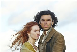 "From left,  Eleanor Tomlinson as Demelza and Aidan Turner as Ross Poldark in the PBS remake of ""Poldark."""