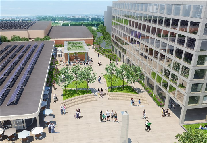 rendering The Allegheny Center mall on the North Side is to be transformed into a technology hub and campus known as Nova Place.
