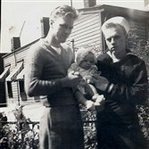 Bill Seiler, left, who has been missing since 1958, with his baby brother Dan and younger brother Bob.