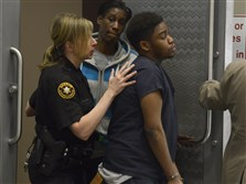 "Eric Crawford leaves the courtroom after testifying in the preliminary hearing for Hubert Wingate in the death of Andre ""Pokie"" Gray."