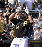 Pirates first baseman Pedro Alvarez homered against the New York Mets Saturday at PNC Park.