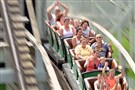 Vic Kleman, 82, center right, embarks on 95 consecutive rides Sunday on the Jack Rabbit at Kennywood.