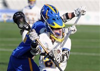 Robert Clifford of Hampton, left, tries to stop Canon-McMillan's Benjamin Ward at the recent WPIAL Division II boys lacrosse championships at Highmark Stadium.