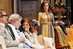 "From left, James FitzGerald, Philip Winters, Karen Baum and Daina Michelle Griffith in Alan Ayckbourn's "" How the Other Half Loves."""