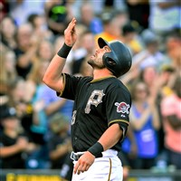 New Pirates catcher Francisco Cervelli hit his first home run of the season Monday night.