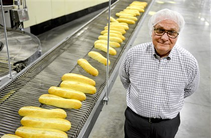 Randy Cellone, president of Cellone's Bakery, stands in the company's Crafton-area facility.