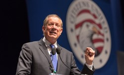 """It is time to stand up, protect our freedom and take back this government,"" George Pataki said in a video announcing his run for the Republican nomination for president."