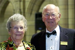 Gertrude and John Petersen attended the Cathedral of Learning Society gala at the University of Pittsburgh in 2005.