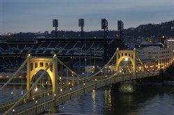 The Roberto Clemente Bridge, which connects the North Shore to Sixth Street in Downtown, will be closed from Friday through Monday.