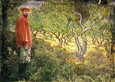 "Actor James Briggs in a scene from ""Vincent,"" a one-person play about painter Vincent Van Gogh."