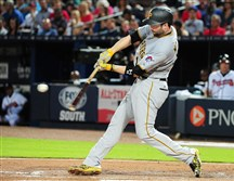 Neil Walker hits a fifth-inning two-run home run against the Atlanta Braves June 5 in Georgia.