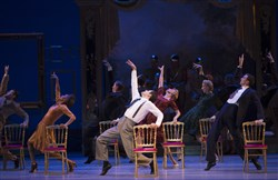 "The cast performing in a scene from the musical production of ""An American in Paris,"" with music and lyrics by George Gershwin and Ira Gershwin at the Palace Theatre in New York. Those tuning in to watch the Tony Awards will see musical numbers from the show."