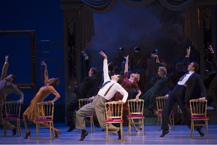 "Tony Watch-The Show The cast performs a scene from the musical production of ""An American in Paris,"" with music and lyrics by George Gershwin and Ira Gershwin at the Palace Theatre in New York."