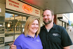 Betsy and Ryan Miller, owners of Betsy's Ice Cream on Washington Road in Mt. Lebanon, have a year-round subscription-based ice cream home delivery program.