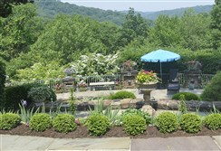 This hillside garden will be featured in the Sewickley Garden Tour.