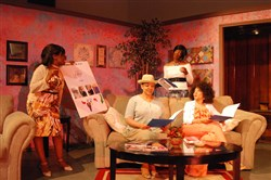 "The widows in ""The Dance on Widow's Row,"" left to right: Linda Haston, Camille Hairston-Lowman, Karla Spirit-Lead Payne and Brenda Marks. The comedy has returned to New Horizon Theater for the first time in 12 years."
