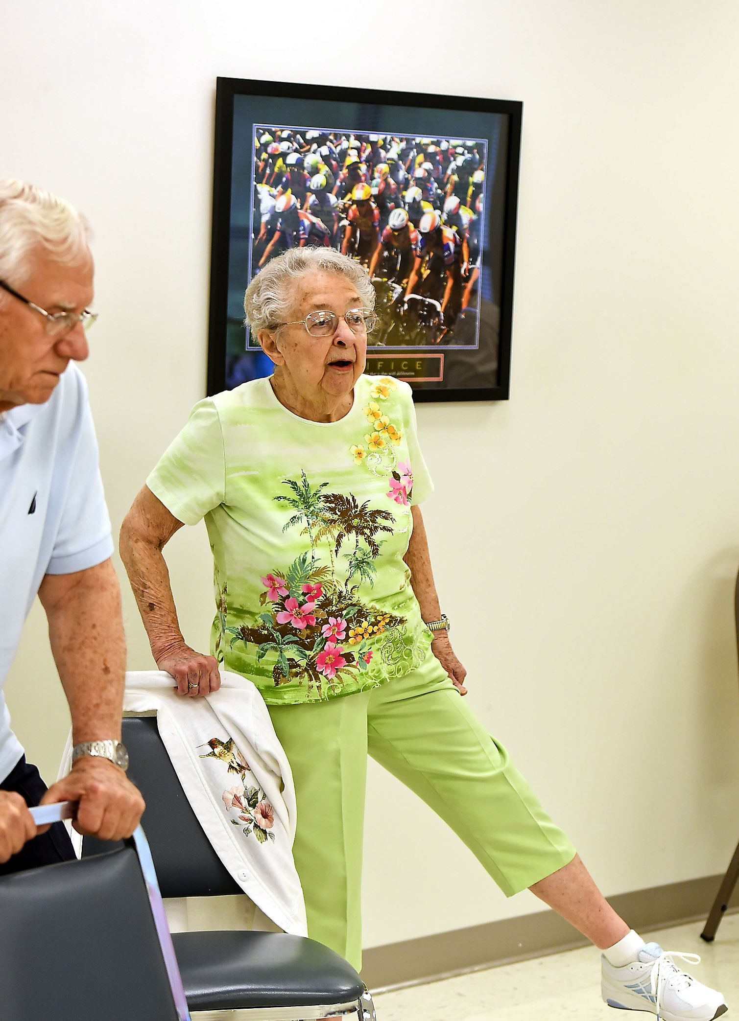 fitness96yrold Edith Waite participates in an exercise program for seniors at the Northern Blair Senior Center in Tyrone.