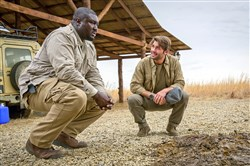 "Nonso Anozie, left, portrays Abraham Kenyatta and James Wolk is Jackson Oz on the CBS drama ""Zoo,"" based on the book by James Patterson."