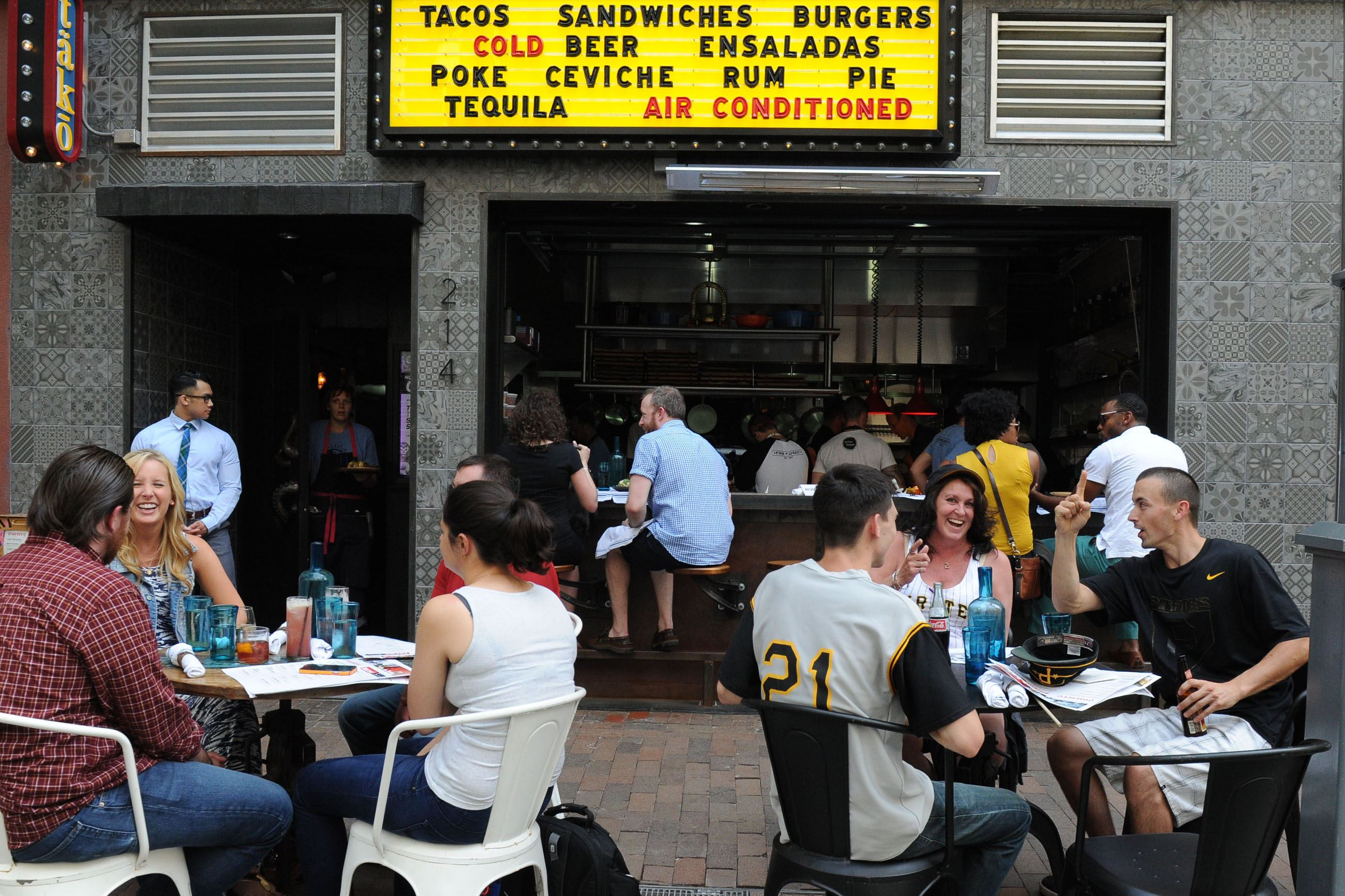 Summer 2015 dining guide Customers dine outside at Tako on Sixth Street, Downtown.