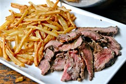 BIstro Steak and Frites  and Shallot Butter a great meal for Father's Day.