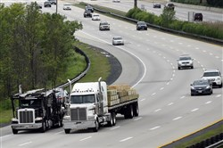 Pennsylvania allows double trailers with a maximum length of 28 feet 6 inches per trailer. Single trailers pulled by truck tractors can be 53 feet long.
