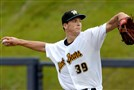 West Virginia Black Bears' Tyler Glasnow delivers a pitch against the Mahoning Valley Scrappers in June.