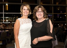 NPF Courage for a Cure Gala: Compassionate Care awardees Susan Rushlander and Susan Spitznagel.