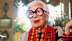 "Iris Apfel in the documentary ""Iris."""