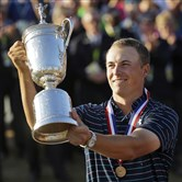 Jordan Spieth won the 2015 U.S. Open golf tournament at Chambers Bay in Washington and is expected to defend his title at Oakmont in June.