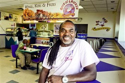 Eugene Thomas, owner of Quik-it  Chicken on the North Side, was one of several black-owned businesses targeted for the One Large project, which challenged participants to spend money in black-owned businesses across the country.