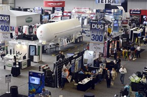 Displays for DUG East, an oil and gas conference, fill the David L. Lawrence Convention Center, Downtown.