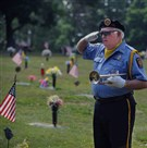 John Massari, a member of the VFW Post 33 honor guard in Greensburg.