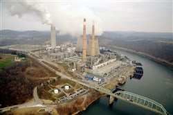 FirstEnergy's closed Hatfield's Ferry coal-fired powerplant in October 2013. The company is the subject of a lawsuit that could cost the corporation millions.