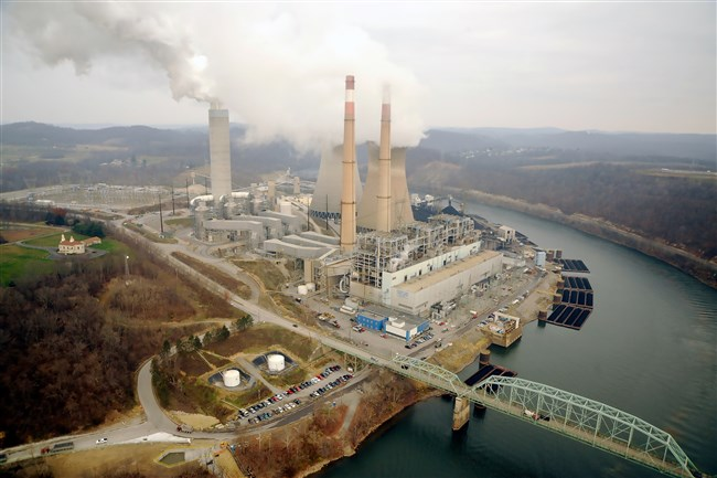 In October 2013, FirstEnergy Corp. closed Hatfield's Ferry Power Station, a 1,710-megawatt coal-fired power plant that employed 174 people in Greene County near Carmichaels. Above, the facility in June 2013.  Original Filename: Hatfields_Ferry.jpg