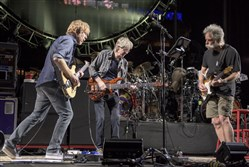 From left, Trey Anastasio, Phil Lesh and Bob Weir perform at Grateful Dead Fare Thee Well Show at Levi's Stadium on Saturday, June 27, 2015, in Santa Clara, Calif.