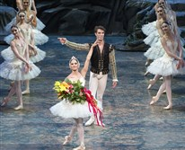 "Misty Copeland and James Whiteside acknowledge the audience after appearing  in ""Swan Lake"" at the Metropolitan Opera House in New York. On Tuesday, June 30, 2015.  Ms. Copeland was named American Ballet Theater's first black principal dancer."