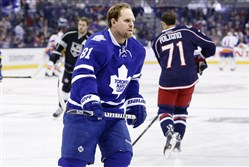 Toronto Maple Leafs' Phil Kessel warms up before the NHL All-Star hockey skills competition in Columbus, Ohio, in January.