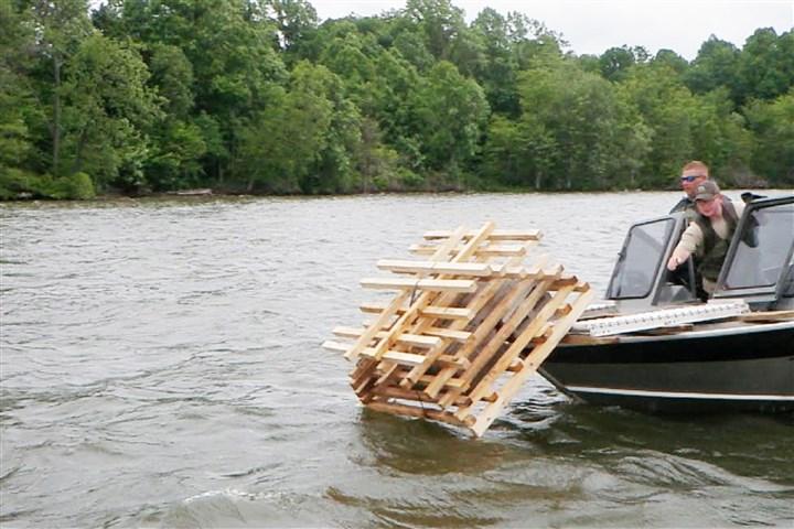 Cooperating groups improve decaying bottom habitat at for Ohio dnr fishing