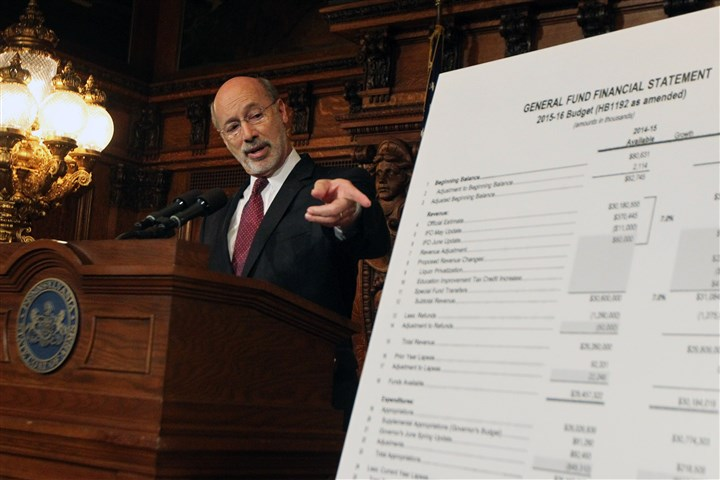 Pa budget Tom Wolf Pennsylvania Gov. Tom Wolf, speaks at state Capitol in Harrisburg on Tuesday.