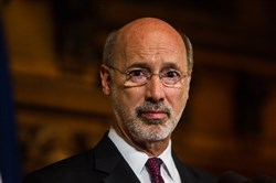 Pennsylvania Gov. Tom Wolf speaks during a news conference at the state Capitol, Tuesday, June 30, 2015, in Harrisburg, Pa.
