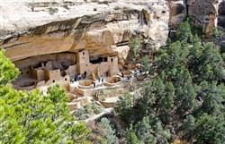 Spruce Tree House is one of more than 300 cliff dwellings at Mesa Verde National Park in southwest Colorado.