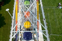 The Ferris wheel located at Point State Park as part of Pittsburgh's Three Rivers Regatta will open to the public tonight at 7 for $5 a ride. Media members were invited for a preview ride of the attraction.