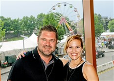 Derek Weber and Darcy Kucenic during the Regatta VIP party held at the Wyndham Grand Pittsburgh Downtown..