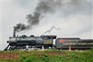 The Western Maryland Scenic Railroad's steam locomotive 734 pauses in Cumberland, Md., after a recent round trip to Frostburg, Md.