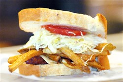 "A few sandwiches similar to this one will accompany the ""Good Morning America"" tour bus to Philadelphia."