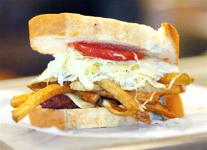 Primanti0707c-4 The iconic Primanti Bros. sandwich will be among the items sent to Cincinnati if the Steelers lose Saturday's matchup.