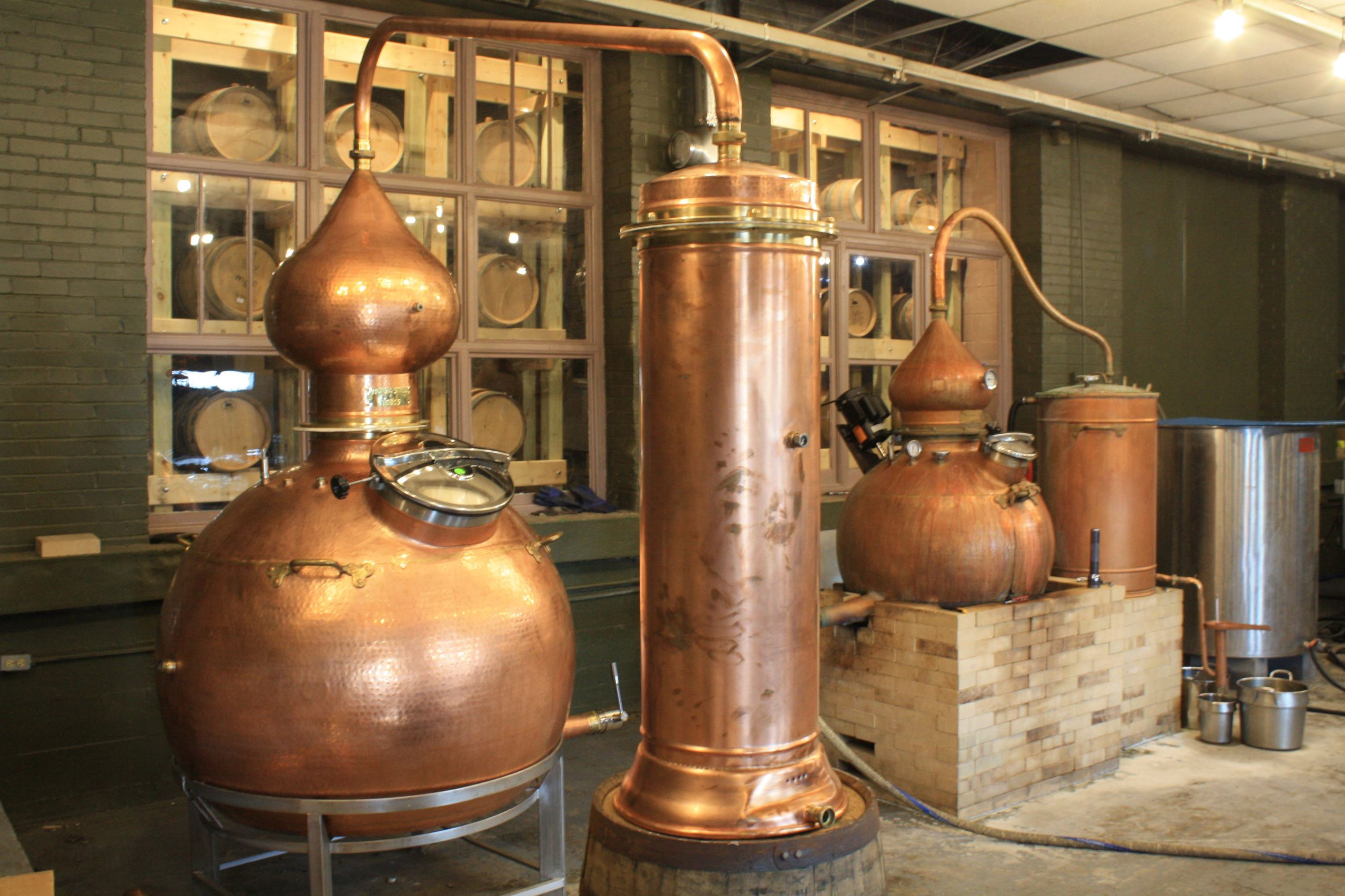 NewStill Maggie's Farm Rum in the Strip District will nearly triple its production capacity with the addition of a new Spanish-made still, left.