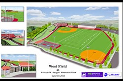 This is an artist's rendition of how West Field at William W. Knight Memorial Park will look after renovation work has been completed.
